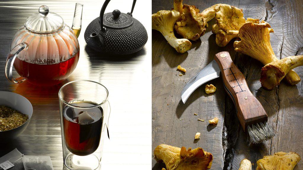 Pilze und Tee